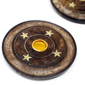 Wooden Incense Cone and Stick Tray