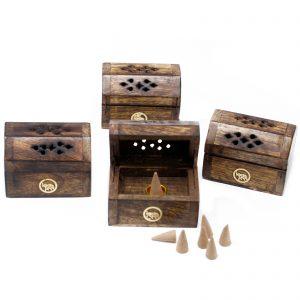 Wooden Smoke Box for Incense Cone