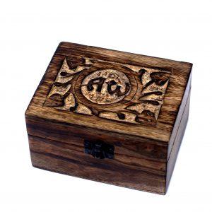 Carved Wooden Essential Oils Storage Box