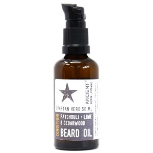 Spartan Hero Patchouli Lime and cedar wood Beard Oil