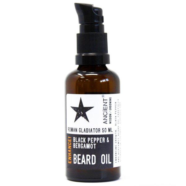 Roman Gladiator Black Pepper & Bergamot Beard Oil