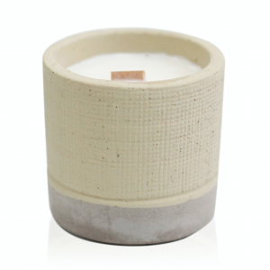 Wooden Wick Candle Pot Cream